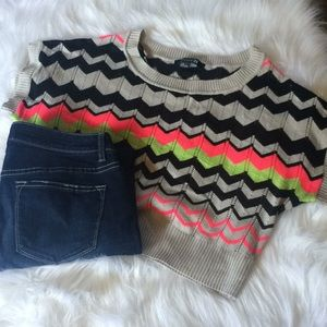 ⚡️ 3 for $20 ⚡️Forever 21 Chevron Crop Sweater